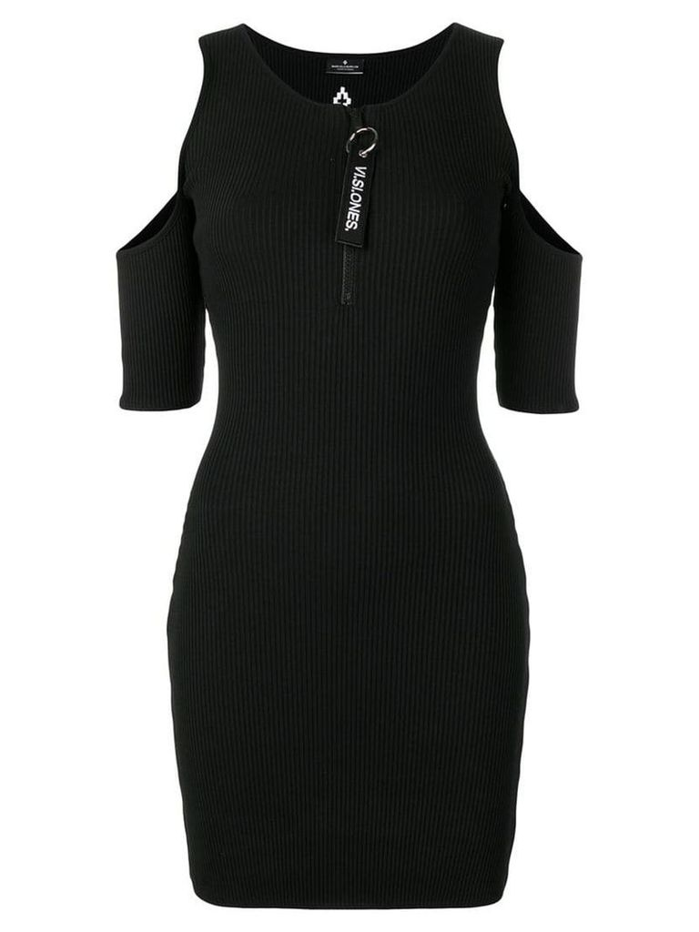 Marcelo Burlon County Of Milan cold shoulder dress - Black