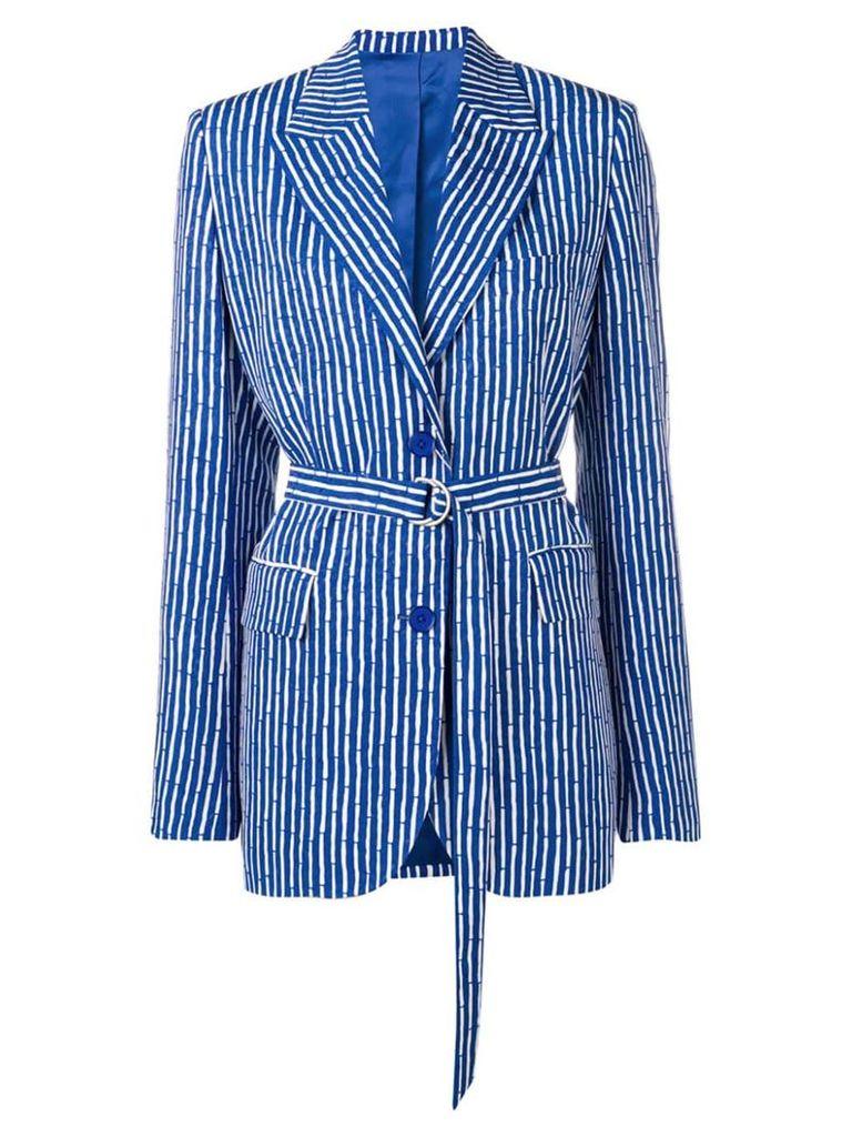Christian Wijnants striped Jena blazer - Blue
