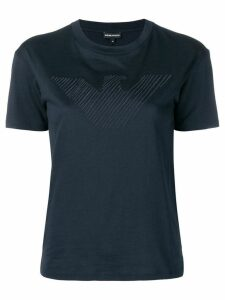 Emporio Armani tone on tone logo T-shirt - Black