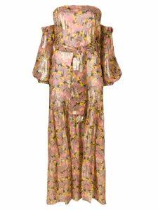 Anjuna floral off-shoulder dress - Pink