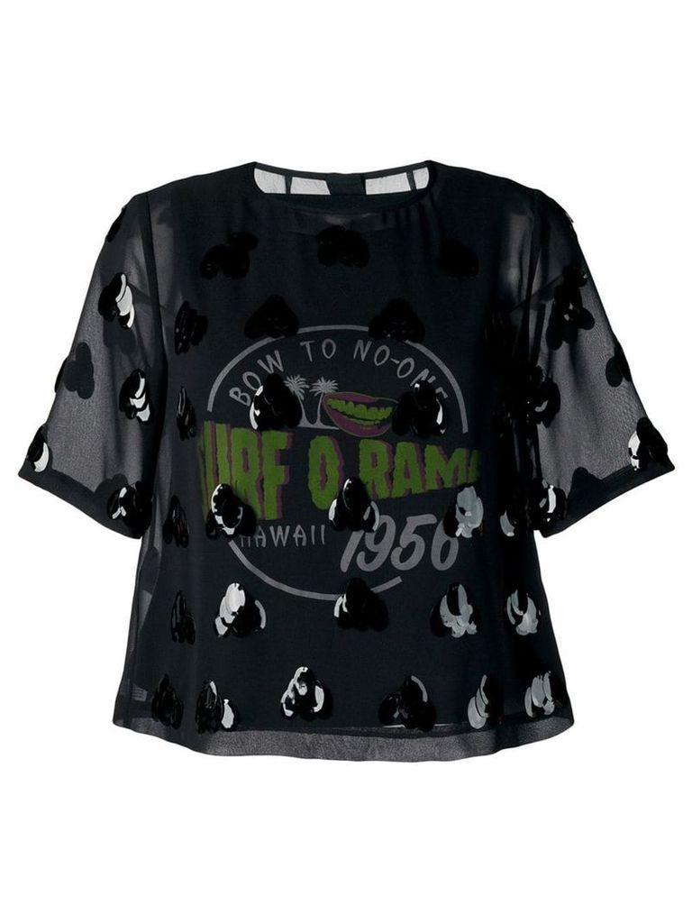 McQ Alexander McQueen sequin embellished sheer top - Black