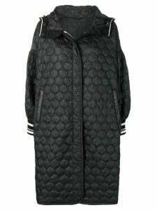 Ermanno Scervino quilted geometric patterned coat - Black