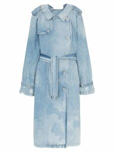 Unravel Project double-sided denim trench coat - Blue