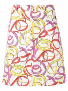 Escada Sport printed straight skirt - White