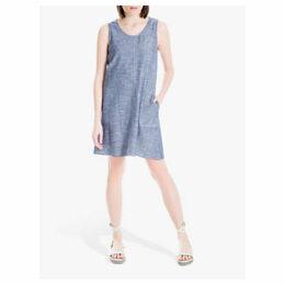Max Studio Sleeveless Linen Blend Dress, Blue