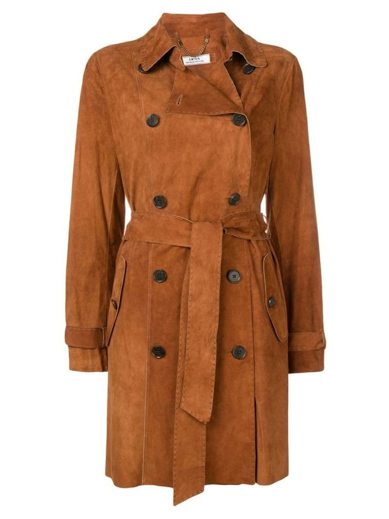 Desa 1972 suede trench coat - Brown