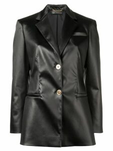 Versace faux leather blazer - Black
