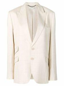 Stella McCartney removable strap blazer - NEUTRALS