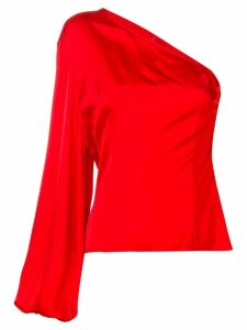 Solace London off-shoulder cropped top - Red