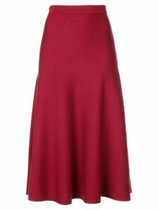 Gabriela Hearst knitted a-line skirt - Red