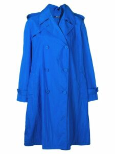Maison Margiela oversized trench coat - Blue