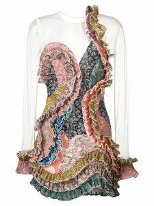 Zimmermann paisley ruffled dress - PINK