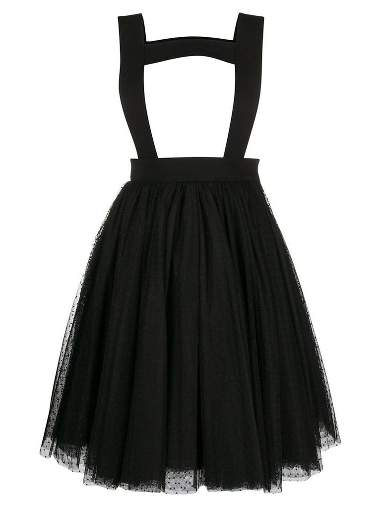 Comme Des Garçons Noir Kei Ninomiya polka tulle pinafore skirt - Black