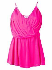 MSGM draped wrap top - Pink