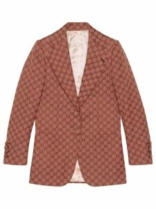 Gucci GG Supreme print blazer jacket - Red