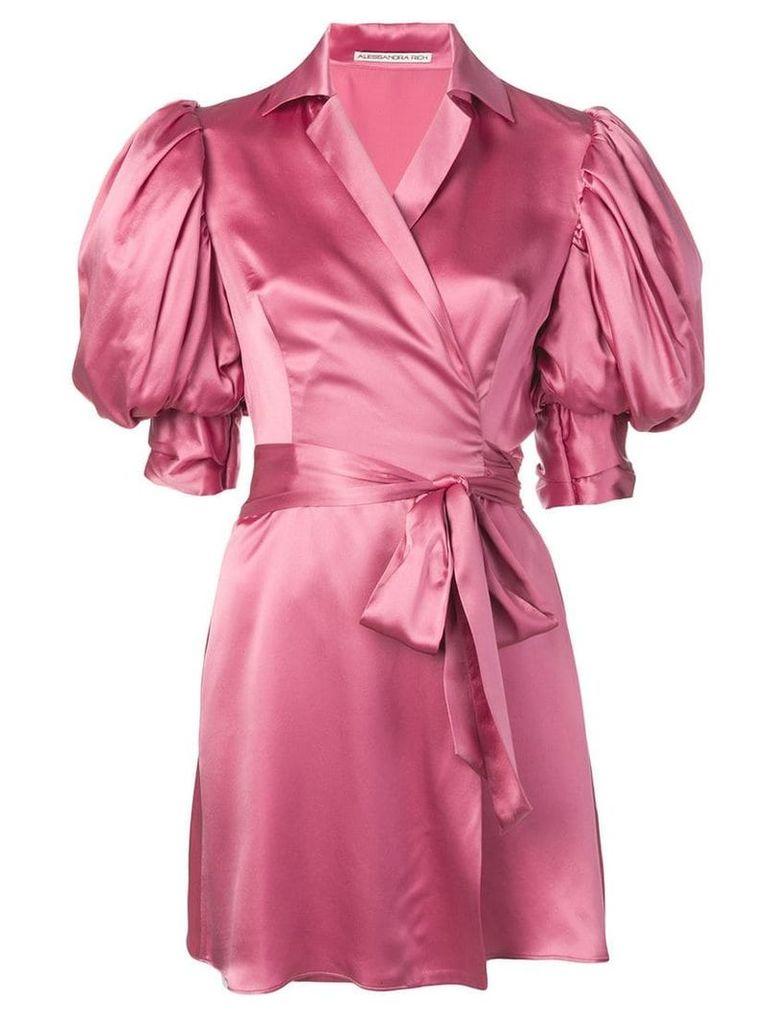 Alessandra Rich belted dress - Pink