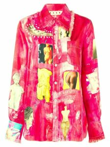 Marni art printed shirt - Pink