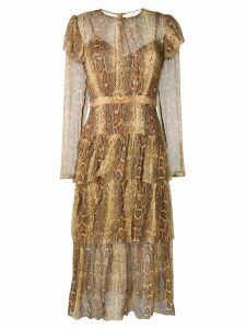 Zimmermann Ninety-Six midi dress - Brown