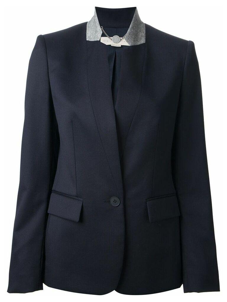 Stella McCartney contrast collar blazer - Blue