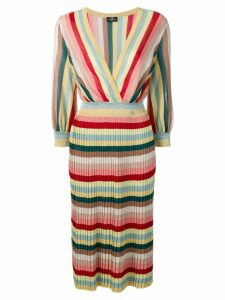 Elisabetta Franchi striped sweater dress - Pink