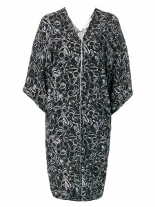 A.F.Vandevorst graphic print zipped dress - Black