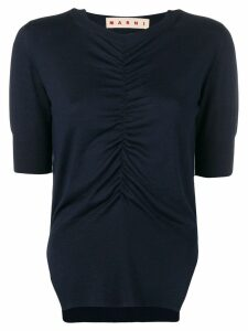 Marni ruched blouse - Blue