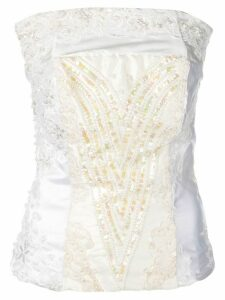 A.F.Vandevorst embroidered sleeveless top - White