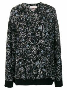 A.F.Vandevorst graphic print hoodie - Black