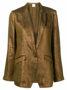 Forte Forte metallic single-breasted blazer