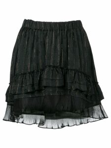 Isabel Marant short ruffled skirt - Black