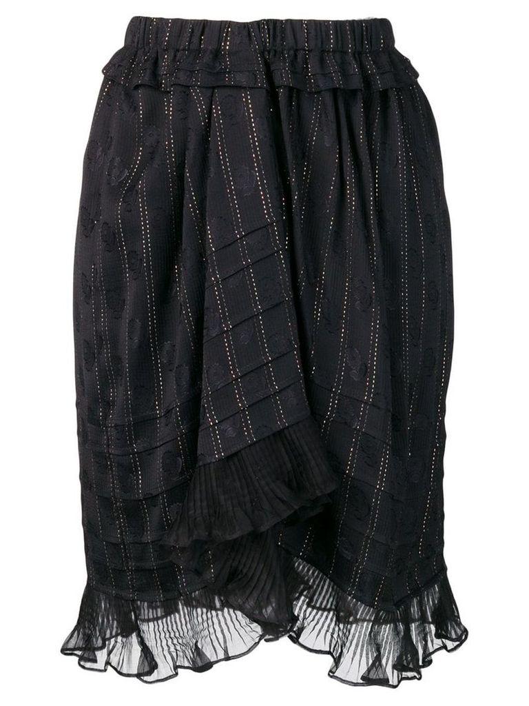 Isabel Marant ruffled panel skirt - Black