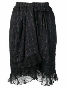 Isabel Marant ruffled panel skirt - Black