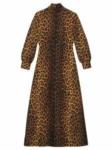 Gucci Leopard print wool dress - Black
