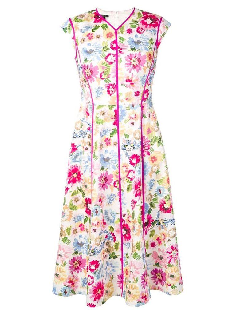 Escada floral print dress - White