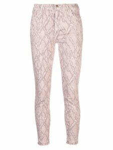 J Brand snakeskin print skinny jeans - Pink