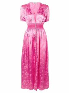 Attico plunge neck maxi dress - Pink