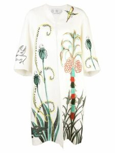 Tsumori Chisato embroidered coat - White