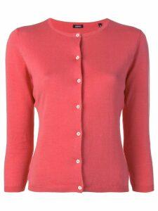 Aspesi jersei boba cardigan - Red