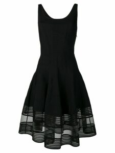 Alexander McQueen flared knitted dress - Black