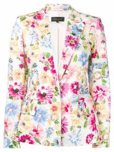 Escada floral-print blazer - White