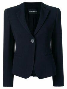 Emporio Armani classic fitted blazer - Black