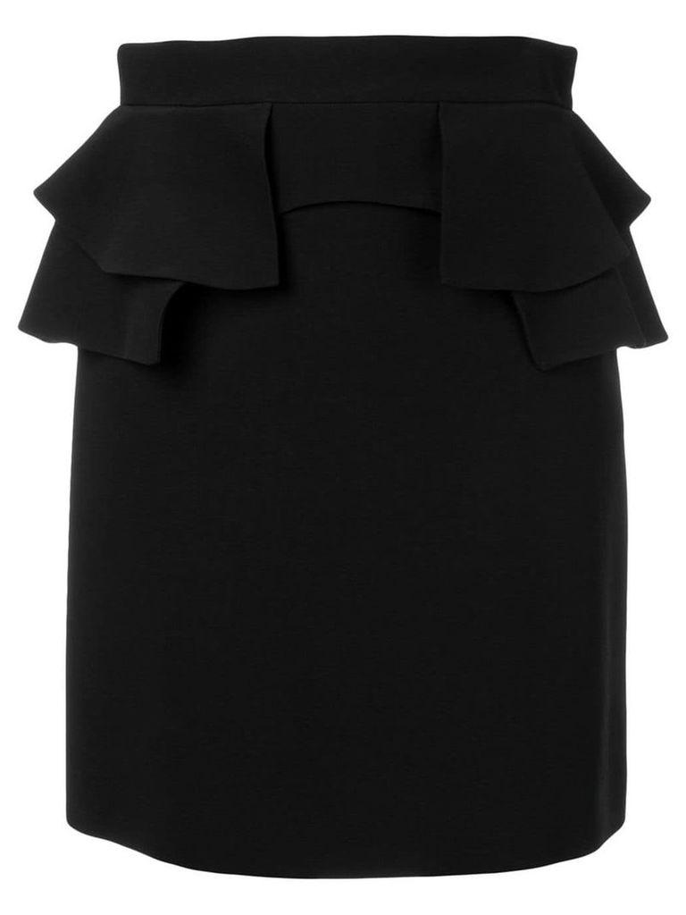Alexander McQueen ruffle trim skirt - Black