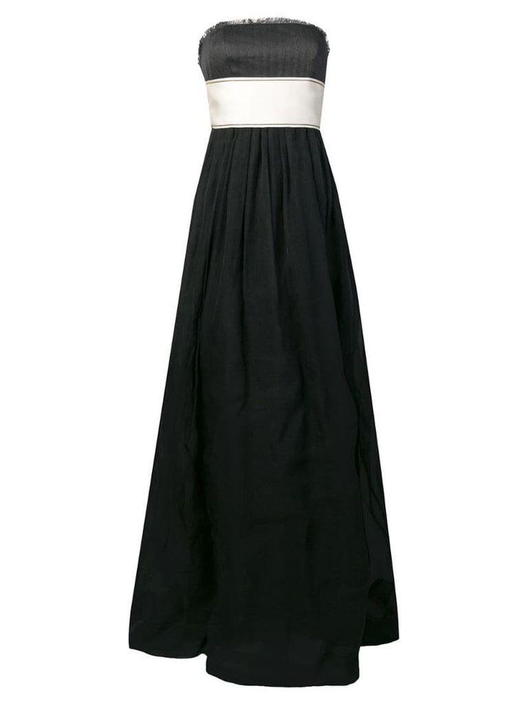 Brunello Cucinelli belted strapless gown - Black