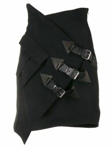 Redemption buckle-detail fitted skirt - Black