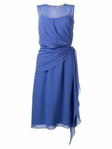 Max Mara Zenobia chiffon dress - Purple