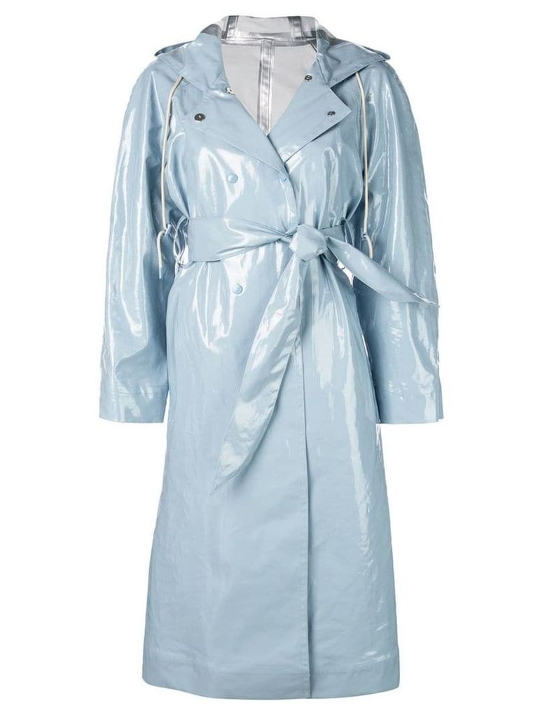 Alexa Chung hooded belted coat - Blue