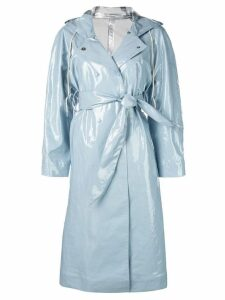 Alexa Chung hooded belted coat - Blue