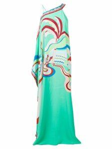 Emilio Pucci La Villa Print Single Shoulder Evening Dress - Blue
