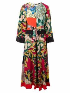 Etro printed kaftan dress - Green