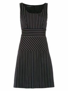 Reinaldo Lourenço striped a-line dress - Blue